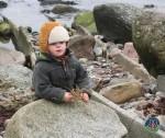Mads leger på stranden ved Mommark