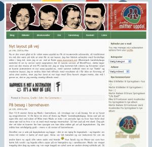 www.uppdal.eu's gamle layout