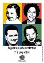 Familien Milther Uppdal med et touch af Warhol