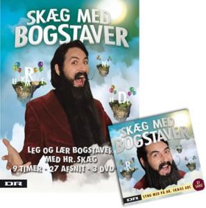 Skæg med bogstaver på DVD og CD